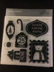 Close To My Heart Home For The Holidays S1410 Acrylix Stamp Set