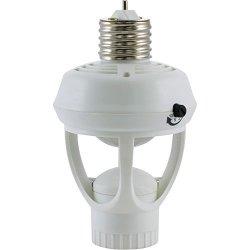 GE 10458 Indoor 360DEG Motion-sensing Light Control Black
