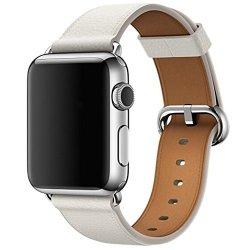 Sunfei Hot Apple Watch Series 3 Band Single Tour Leather Band Bracelet Watchband 38MM White