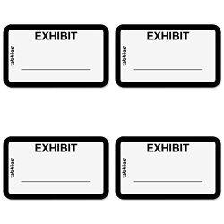TABBIES Legal Exhibit Label 58092 4 Packs