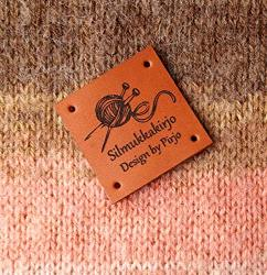 Leather Knitting Labels Custom Clothing Labels Personalized Leather Labels Care Labels Handmade Custom Label Tags Set Of 25