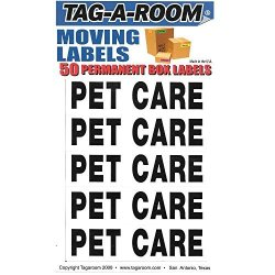 Tag-a-room Box Content Moving Label Pet Care