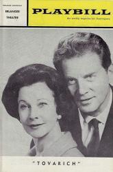 "Vivien Leigh""tovarich"" Jean Pierre Aumont taina Elg john Emery 1963 Philadelphia Tryout Playbill"