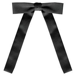 SATIN BLACK Western Tie By S.h Churchill