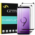 2 Pack Quesple Screen Protector For Samsung Galaxy S9 HD Clear Bubble-free Case Friendly Tempered Glass Screen Protector Compati
