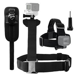 CamKix Body Mount Bundle For Gopro Hero 6 5 Black Session Hero 4 Session Black Silver Hero+ Lcd 3+ 3 2 1 - Shoulder