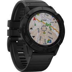Garmin Fenix 6X Pro Sports Watch - Black With Black Band