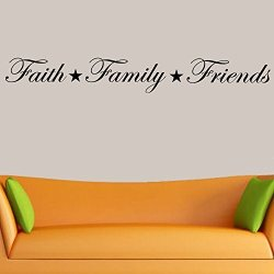 Decal The Walls Faith Family Friends Wall Decal Home Decor Black