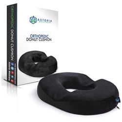 Astoria Wellness Orthopedic Donut Seat Cushion - Medical Pillow Provides Relief While Sitting - For Tailbone Coccyx Pregnancy Po