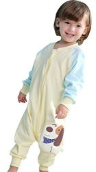 Cyuuro Early Walker Toddler Wearable Blanket With Legs And Arms Yellow Large