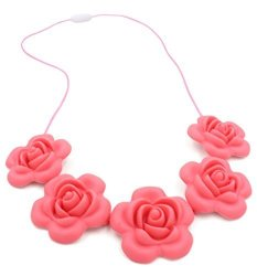 100% Silicone Baby Teething Necklace For Mom To Wear Bpa Free Little Mae's 'happy Flower' Style