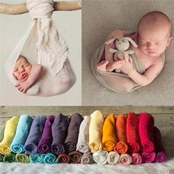 440e66191 Sunbona Newborn Baby Boys Girls Organic Cotton Wrap Blanket Swaddle Muslin  Cover For Photography Prop Red