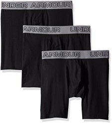 Under Armour Apparel Under Armour Men's Charged Cotton Stretch 6 Boxerjock 3-PACK Black black Xxx-large