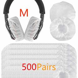 Geekria 500 Pairs Medium Stretchable Headphone Covers disposable Sanitary Earcup Fits 3.14-4.33 Inches Headset fits Sony WHCH710