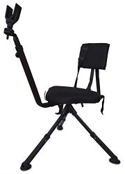 Ground Benchmaster Hunting & Shooting Chair - Bmgbhsc - Blind Chair With Rifle Rest - Full 360 Rotation - Quiet & Comfortable