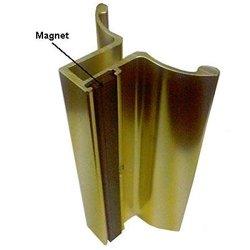 Gordon Glass Co. Gold Frameless Shower Door Handle With Magnet