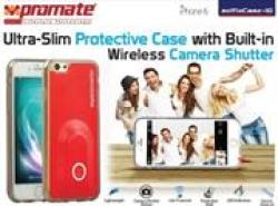 Promate SELFIECASE-I6 Ultra-slim Protective Case With Built-in Wireless Camera Shutter - Red Retail Box 1 Year Warranty