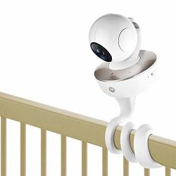 Itodos Baby Monitor Mount For Arlo Motorola Baby Monitor And Most Universal Monitors Camera Versatile Twist Mount Without Tools Or Wall Damage - White
