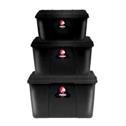 Pride - 3 Piece Storage Box Set Black