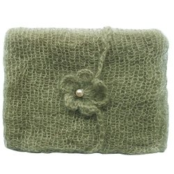 3eefbb120 FEESHOW Baby Soft Mohair Wrap Cloth Blanket With Headdress Photography  Props Outfit Army Green One Size