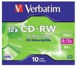 Verbatim - 700MB - Cd-rw 12X - Jewel Case - Box Of 10