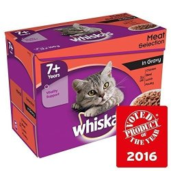 Whiskas 7+ Cat Pouches Meat In Gravy 12 X 100G Pack Of 2