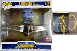 Funko Pop Rides Marvel Collector Corps: Avengers Infinity War - Thanos With Sanctuary Vinyl Figure & Infinity Gauntlet Heat Changing Mug