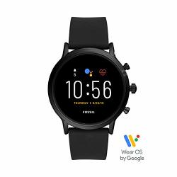 Gen Fossil 5 Carlyle Hr Heart Rate Stainless Steel And Silicone Touchscreen Smartwatch Color: Black Model: FTW4025