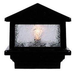"Aurora Deck Lighting Sirius Deck Light 3-1 2"" 4X4 Wood Post 1.6W LED Black"
