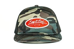 Cowbucker Camo Keep It Reel Badge Trucker Hat Adjustable Snapback Meshback Cap