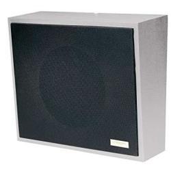 8IN Amplified Wall Speaker Metal Black