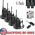 Elephant XuBaofeng BF-888S Rechargeable Long Range Walkie Talkie Two Way Radio 5 Pack