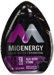 Energy Mio Liquid Enhancer Acai Berry Storm 1.62 Ounce Pack Of 4