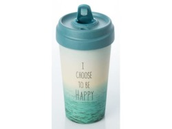 ChicMic Bamboo Travel Mug 400ML Choose Happy