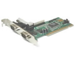 Chronos 2xPort RS-232 Serial card-PCI High speed 16550 UART Retail Packaging 1 year Limited Warranty