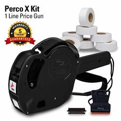 PERCO X Price Gun Kit - 1 Line X Label Price Gun With 9000 Labels And An Extra Inker