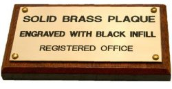 Brass Plaque 60X20MM On Wood Backing