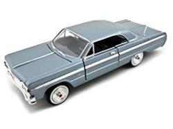 Motormax Premium American 1964 Chevrolet Impala 1 24 Scale Diecast Model Car Blue