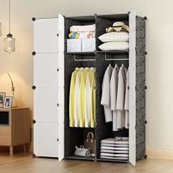 "Kousi Portable Closets 14""X18"" Depth Cube Wardrobe Closet Wardrobe In Closet Armoire Wardrobe Closet Bedroom Armoire Room Closet With Doors Storage Organizer With Doors"