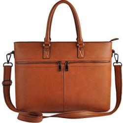 Laptop Bag For Women Business Computer Bags For Women Up To 15.6 Inch Edoday Casual Tote Bag B.brown