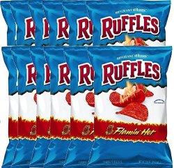 Ruffles Flaming Hot Potato Chips - 8.5OZ Party Bag 12