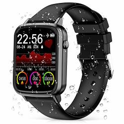 Cegar 2020 Fitness Tracker Smart Watch With Heart Rate Blood Pressure IP68 Waterproof Bluetooth Smartwatch For Android Ios Phone Sleep Tracking Calorie Counter Pedometer