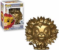 Disney Pop The Lion King Pop Disney Simba Exclusive Vinyl Figure 302 Gold Leaf Mane