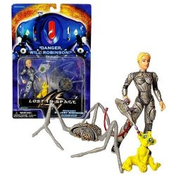 Lost In Space Trendmasters Year 1997 Movie Series 4 Inch Tall Action Figure - Cyro Suit Dr. Judy Robinson With Magnet Attack Bite Strike