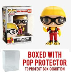 USA Funko Pop Movies: Scuba Sam Big Daddy 907 Vinyl Figure Includes Compatible Pop Box Protector Case