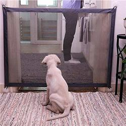 Magic Gate For Dogs Baby Gates Pet Safety Gate Portable Folding Mesh Magic Gate Baby Safety Gates Safe Guard Install Anywhere Keep Your Baby