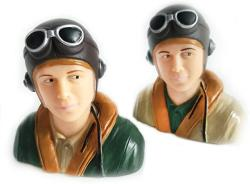 USA Rc Plane Pilot Toy Wwii Pilots Figure For Rc Model Plane L44 W23 H40MM 1 9 Scale Pilots Brown army Green
