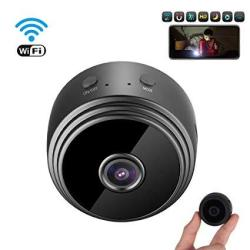 MINI Spy Camera Wireless Hidden Camera Meckily Wifi Full HD 1080P Portable Nanny Cam With Night Vision And Motion Detection Remo