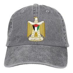 Men WKP0XKA And Wo Cap Coat Of Arms Of State Of Palestine Hat Snap-back Hip-hop Cap Baseball Hat Head-wear Cotton Trucker Hats A