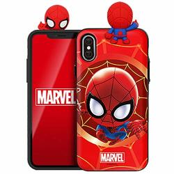 Figure Mirror Card Case With Avengers Character For Samsung Galaxy S9+ Plus Spider Man